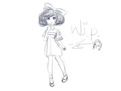WIP of Rin by mashedpotatos-rule