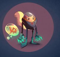 Spacecat: A galaxy's last hope! by hungerartist