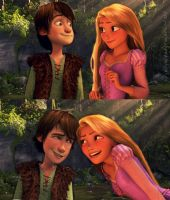 Hiccup and Rapunzel! by jellybreaker