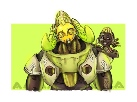 Efi and Orisa by nuttynachos