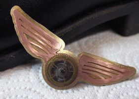 Steampunk Pilot's Wings by Utinni