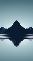 Minimal Mountains Wallpaper for iPhone 5s by Barrieau