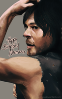 BDAY Norman Reedus by iza-chan