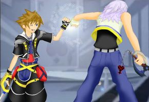 Sora and Riku - Times Up by LightningGuy