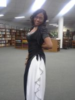 Black/White ball gown by Linked-Memories-21