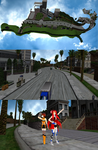 MMD Town by KingdomHeartsNickey