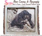 Bear Carving and Pyrography WIP 08 by snazzie-designz