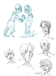 Gorillaz sketchdump by slimereader