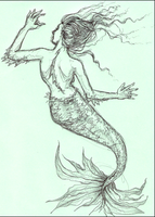 Mermaid Doodle by phantomnova