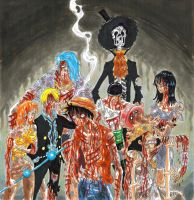 one piece, fighting after by heivais