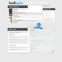 TwitQuiz - web template by jackinnes