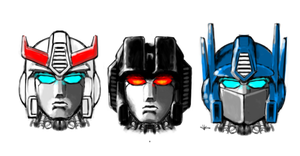 Transformers Head Studies Rough by masarujasu