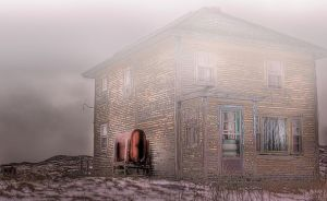 Abandoned House in the Fog by Witch-Dr-Tim