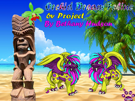 Orchid Dream Feline Banner made for Bethany Hudson by Pinktiger1978