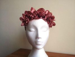 Belle Floral Crown Headpiece Headband by paradiseshoretwins