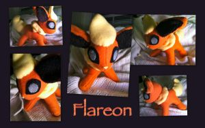 Chibi Flareon Plushie by CeltysShadow