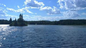picture: camping lake by foxpower93