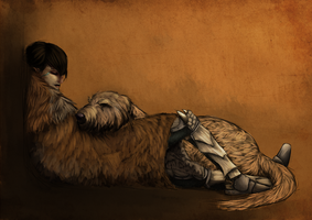Even Dovahkiin Needs Sleep by lou2209
