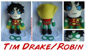 Tim Drake Robin Plush by rosey-so-silly