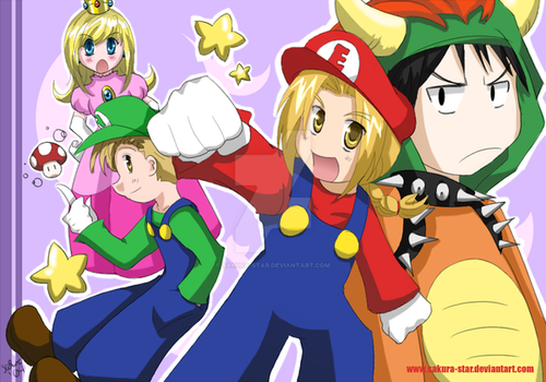 ...The Super Elric Bros.? by Sakura-Star