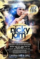 nicky jam flyer by DeityDesignz