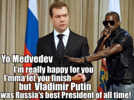 Kanye disses Medvedev by vote-tennant
