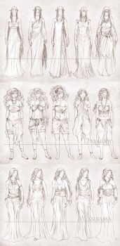 Inavesu Clothing - The girls by SerenaVerdeArt