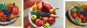 My favorite fruits - In Clay! by JulietTaylor