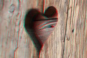 Wooden Heart 3-D conversion by MVRamsey