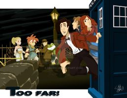 Too far! (Doctor Who) by Kebiru