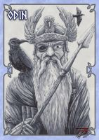 Cards of the Gods ODIN by plushman