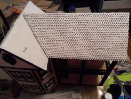 Retro Dollhouse WIP: Shingles part 1 done by kayanah