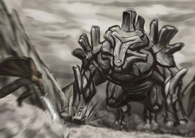 Sum Randum Colossus Battle by Algiark