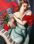 Lady in red by Zvonka