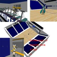 School Gym for MMD by LycheeBerry17