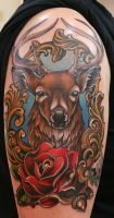 Fancy Deer Tattoo by Phedre1985