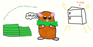 Guinea Pig Steals Celery-Request by Mistystar7
