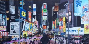 The Brutally Honest Big Apple (Satire Painting) by FastLaneIllustration
