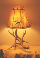 """Horse Dance"" antler lamp by Foxfeather248"