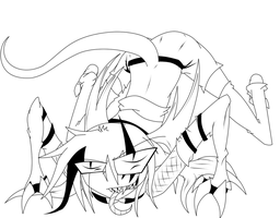 Creepy Crawler -LINEART- by Keeper-OfThe-Dead