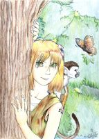 Nadia in the jungle by Garlar