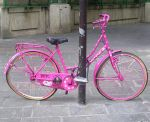 pink bicycle by nocwsukience