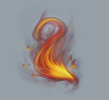 Vent art Flames by GoldieWishes