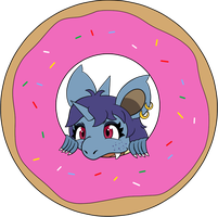 Vicky got a Donut by Larikane