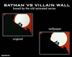 Batman Vs Villain Wall by lapinbionic