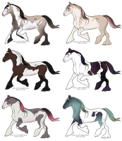 Pretty Paints Horse Adopts [2/6 AVAILABLE] by Unlikely-Adopts