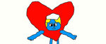 Smurfette in Heart Costume by Simpsonsfanatic33