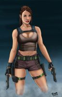 Lara Croft_colors. by Troianocomics