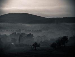 Foggy village... by eDarKknight