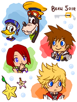 Kingdom Hearts cartoons by KaedeKarasuma